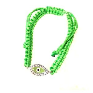 New Greek Evil Eye green bracelet adjustable